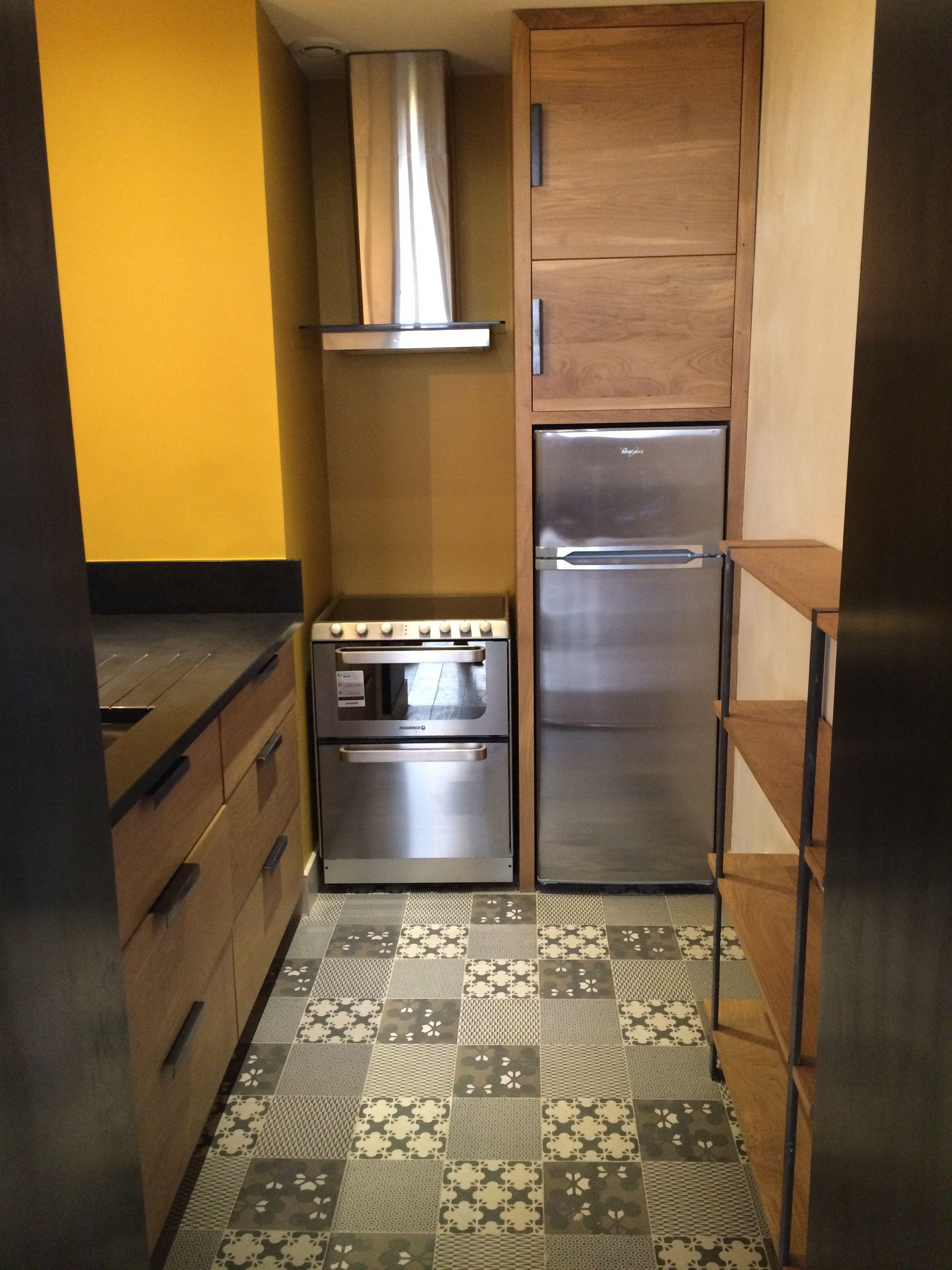 cuisine #chêne #bois #carreaux #ciment #inox Typic Design a réalisé ...