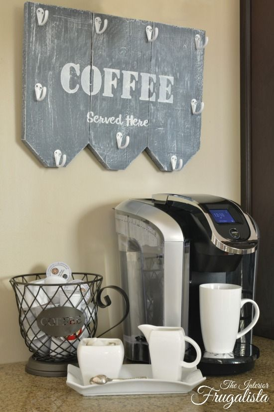 From Wooden Shutters To Rustic Coffee Mug Holder