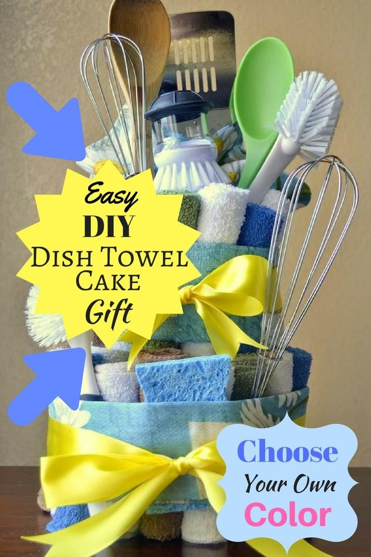 Kitchen Tea Gift Choose A Color Theme And Make This Diy Gift For Mom A Dish Towel