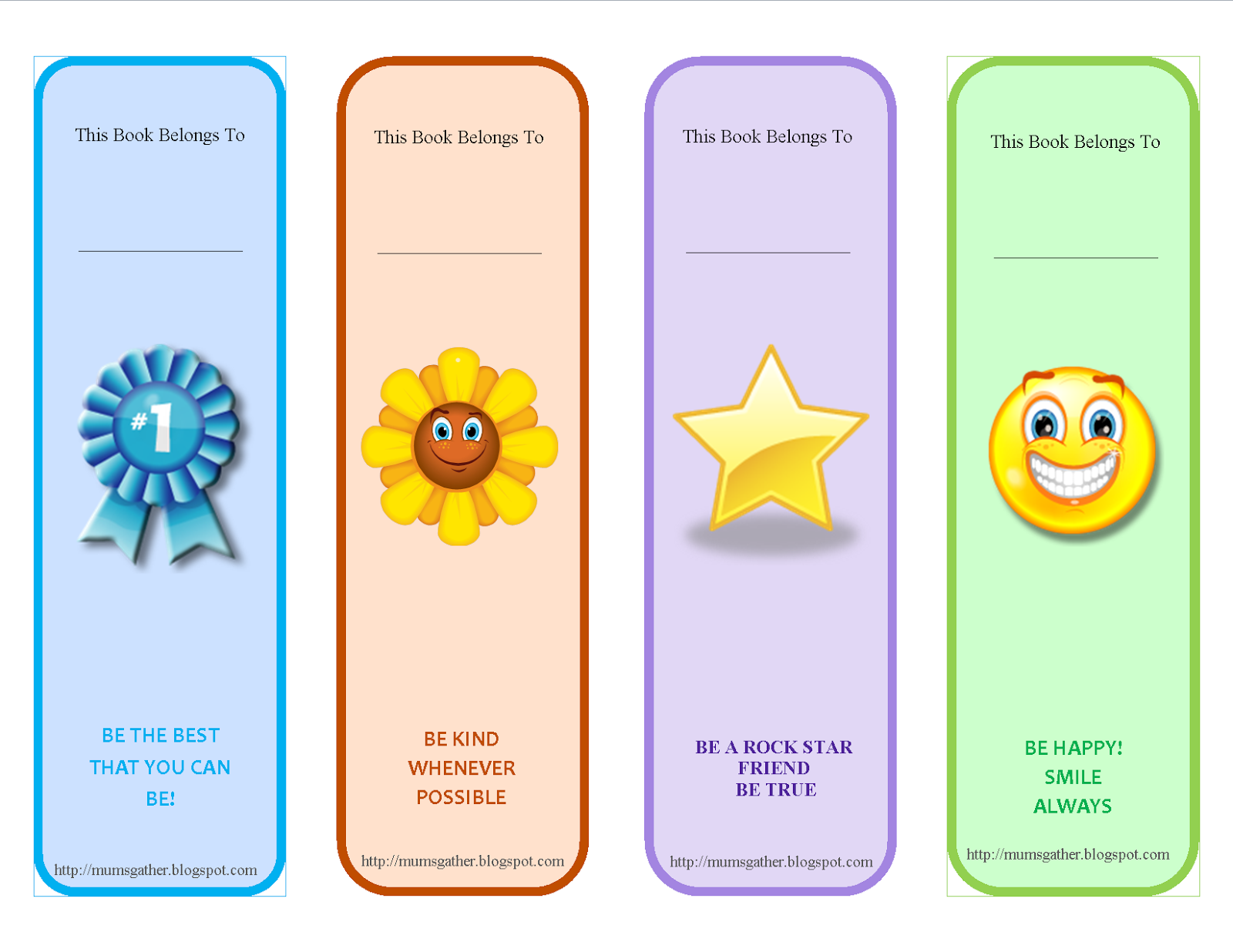 Free Printable Motivational Quotes Bookmark For Kids ...