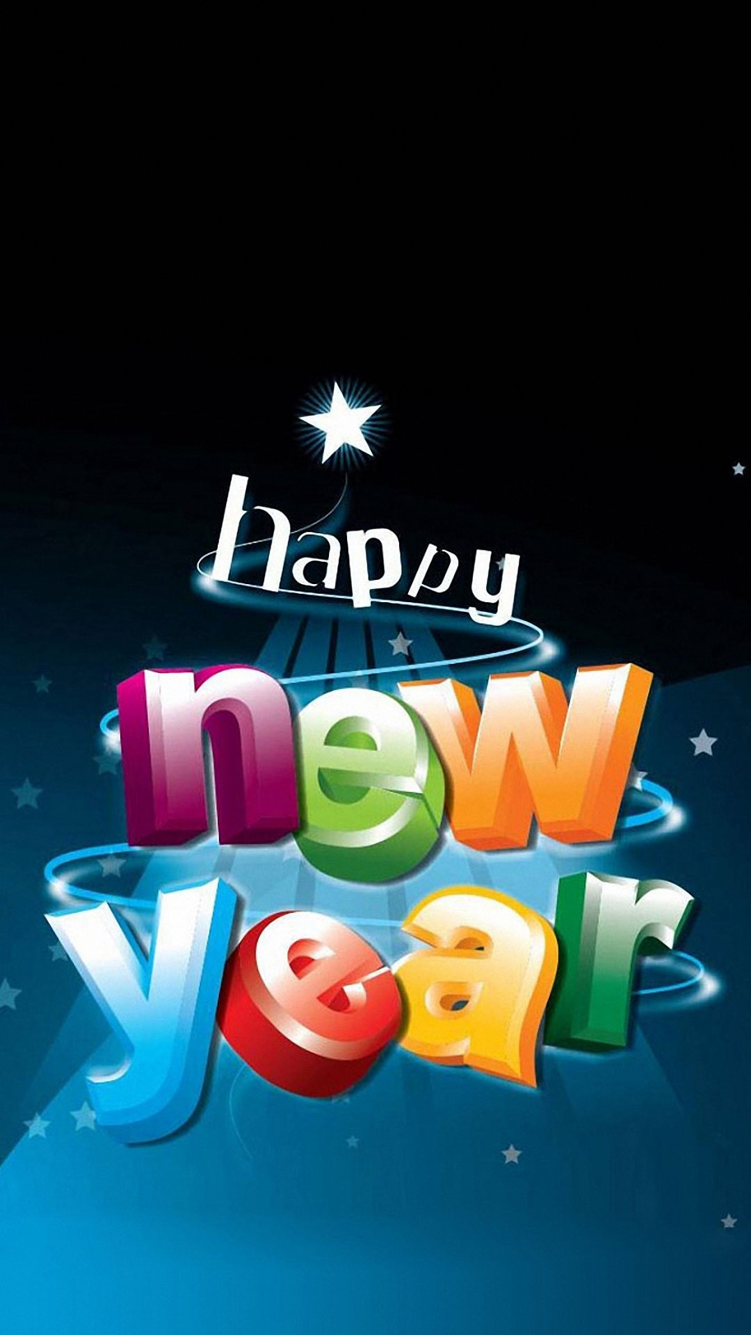 HD happy new year text iPhone 6 / 6s / Plus wallpapers