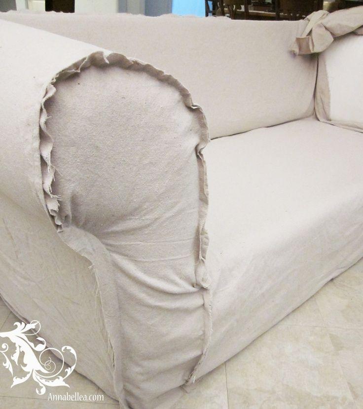 Tutorial Drop Cloth Slip Cover Upholstery Pinterest