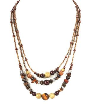 Multi Beaded Layered Necklace Celliana