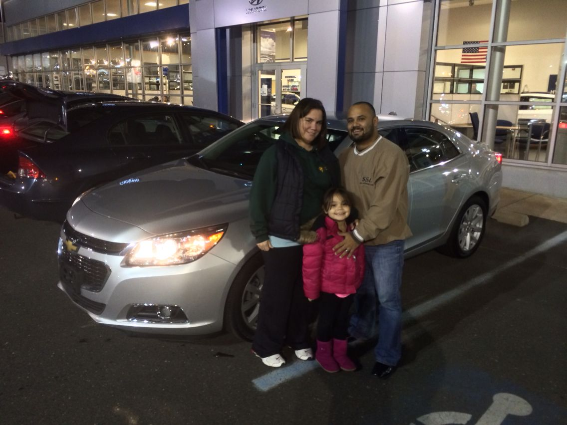 Congratulations Dave and Jen on you 2014 Chevy Malibu from