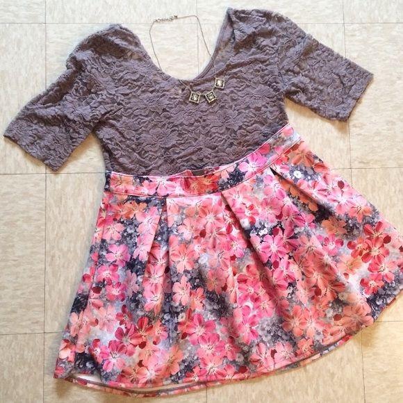 Floral Skater Skirt Floral skater skirt made of 92% polyester and 8% spandex. Looks brand new! Skirts Circle & Skater