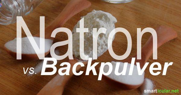 Natron und Backpulver sind kleine Wundermittel, deren Einsatzgebiete sich stark überschneiden. Worin unterscheiden sie sich eigentlich?