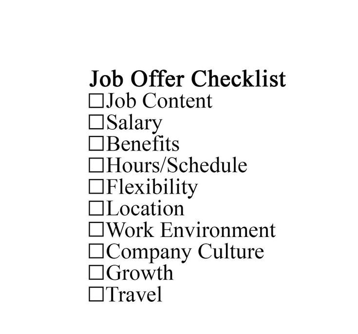 accepting an offer of employment