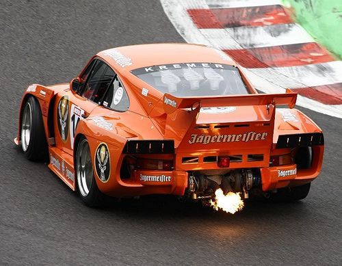 Fire in the holeJagermeister Kremer Porsche 935 K3