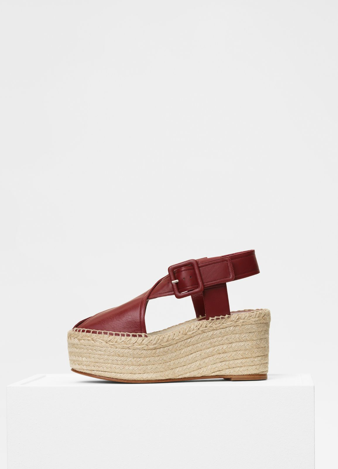 buy cheap buy Céline Snakeskin-Trimmed Wedge Sandals free shipping 100% guaranteed outlet newest 2GihCtc6x