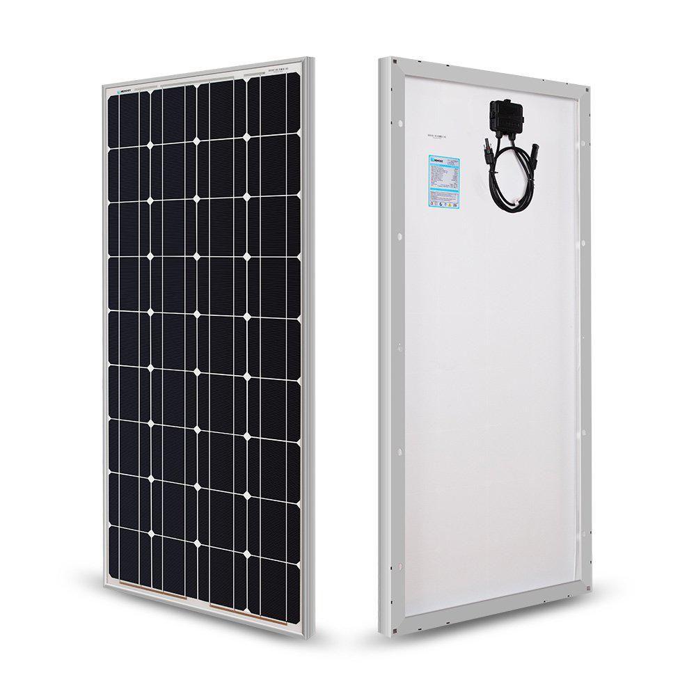 Renogy 100 Watt 12 Volt Monocrystalline Solar Panel For Rv Boat Back Up System Off Grid Application In 2020 12v Solar Panel Best Solar Panels Solar Panels For Home