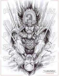 Cool Aztec Warrior Tattoo Inca Tattoo Aztec Art Aztec Tattoo Designs