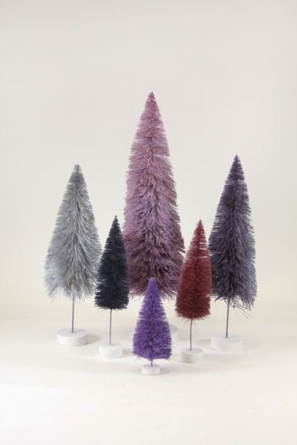 Details About Cody Foster Christmas Bottle Brush Trees Boxed Set 12