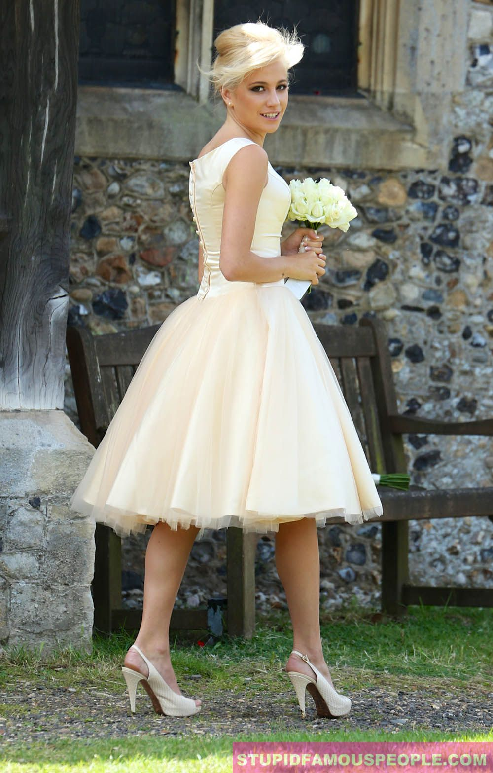 160 simple summer wedding dresses 2017 trends and ideas summer pixie lott seen in yellow cocktail dress at her sisters wedding in essex photo ombrellifo Images