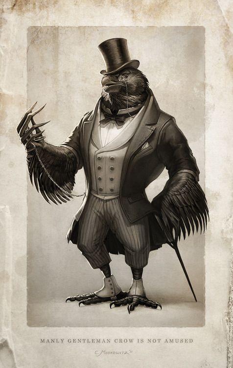 gentleman crow by  fleurdelyse  steampunk  victorian