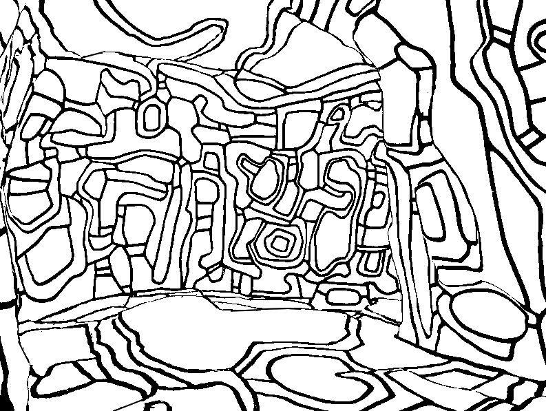 Jean Dubuffet : Le jardin d'hiver - http://www.coloring-life.com