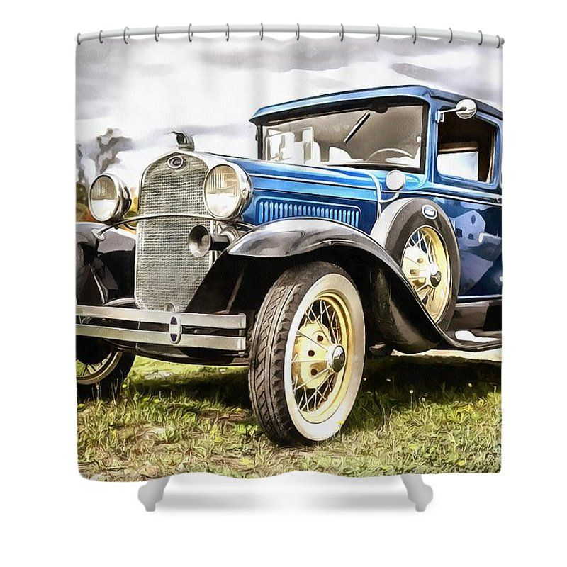 Awesome Model A Ford Shower Curtain