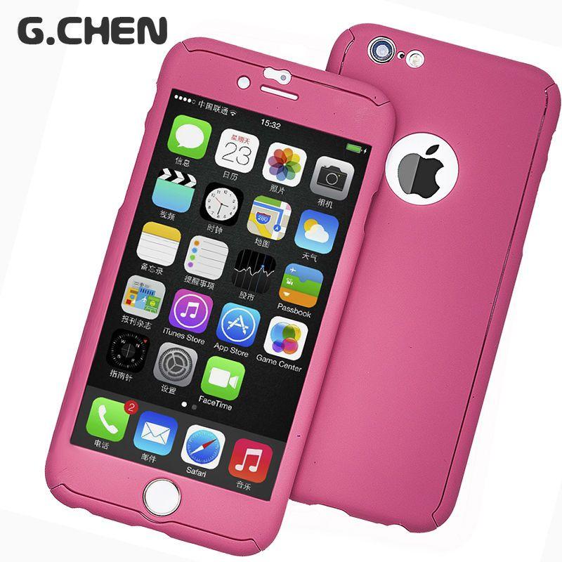 Case per apple iphone 6 s 6 s 4.7 pollice più 5.5 360 gradi Luxury copertura del telefono Protezione Completa Del Corpo 3D coque Con Vetro Temperato