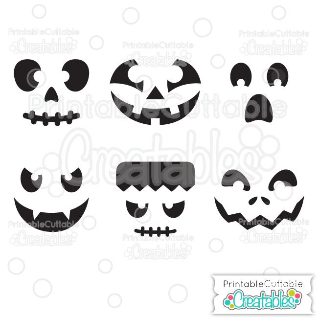 pumpkin template cricut  Halloween Faces Pumpkin Carving Stencils Free SVG Files ...