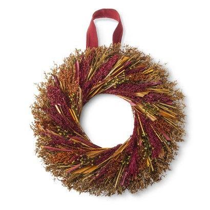 """Smith & Hawken® Harvest Dried Wreath - 21.25"""" : Target"""