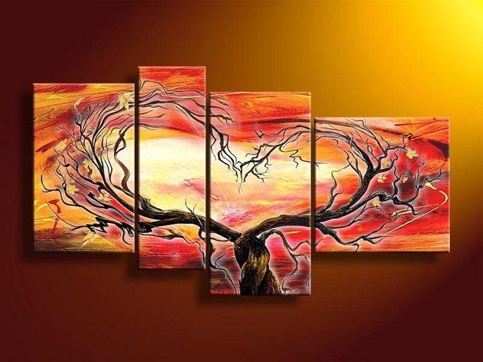 Quadri per camera da letto - Composizione albero arancio | Paintings