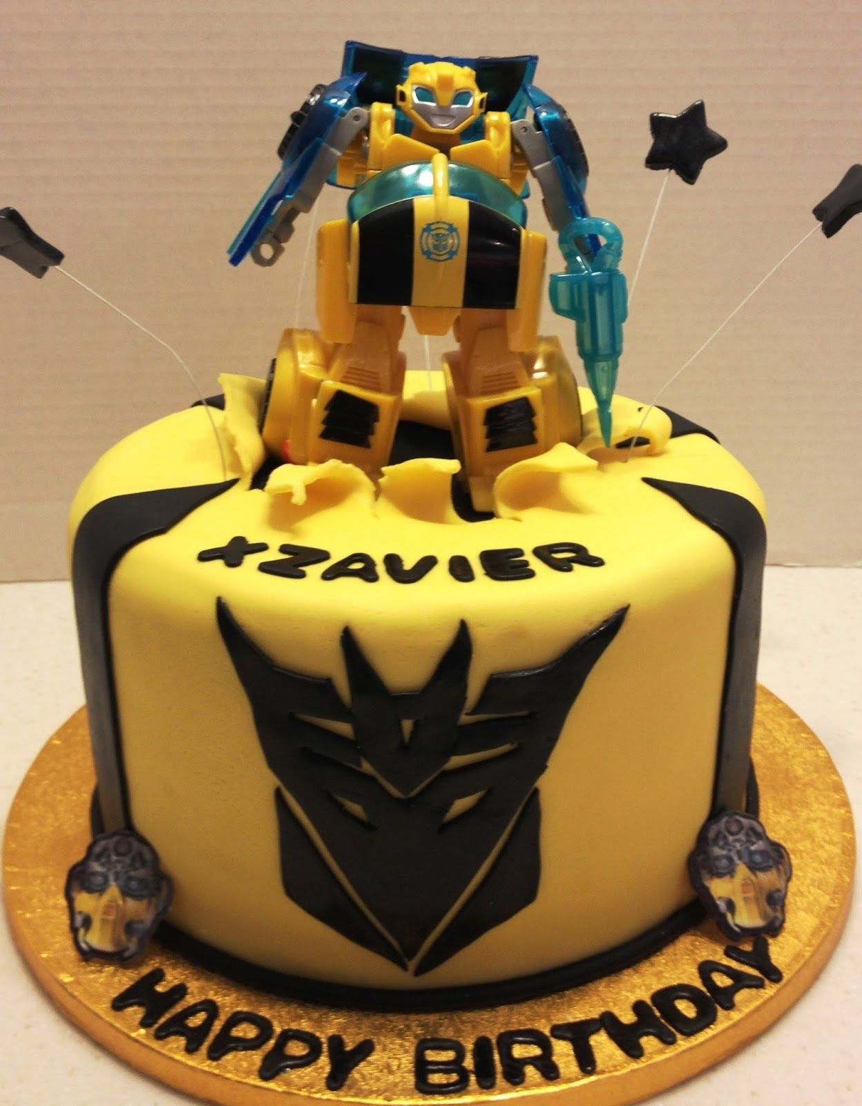 Bumble Bee Transformer Birthday Cakes Transformers Birthday 4th