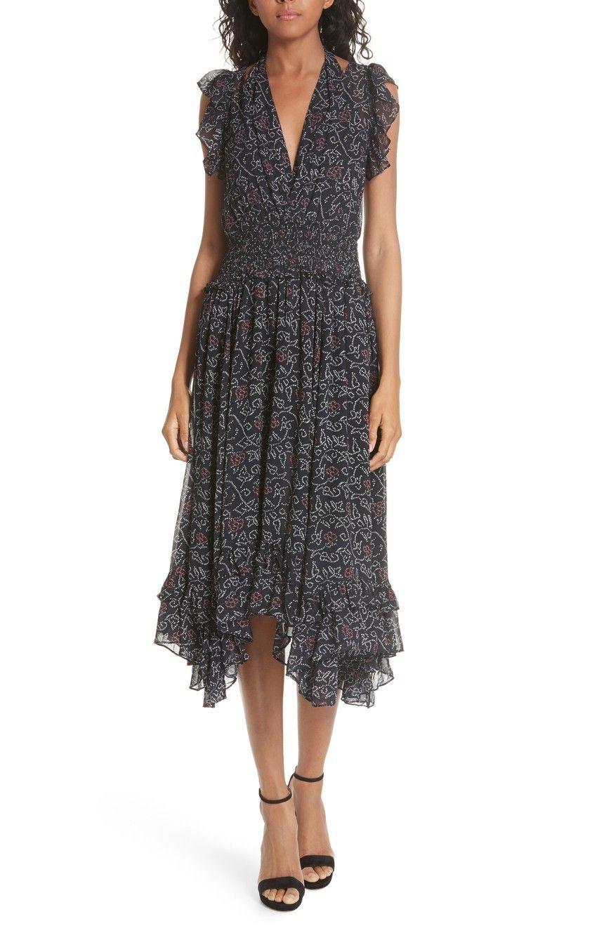 e5738f095f40 ULLA JOHNSON Aviva Silk Dress