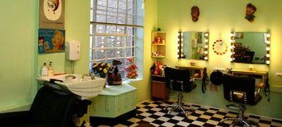The 50s Style Wedding Blog 50s Style Wedding Hair And Make Up Vintage Hair Salons Vintage Salon Salon Decor