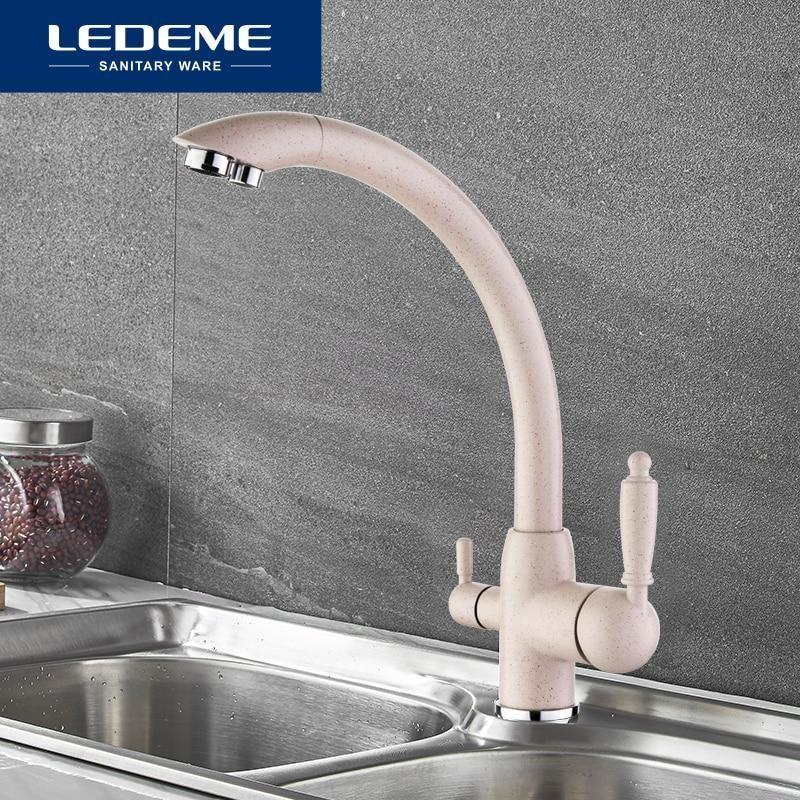 Ledeme Kitchen Faucets Swivel Drinking 360 Degree Rotation With