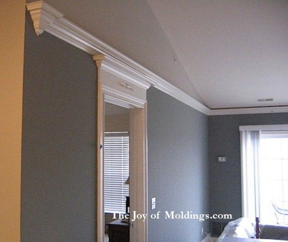 how to install crown molding on slope of vaulted ceiling. need to, Wohnzimmer dekoo