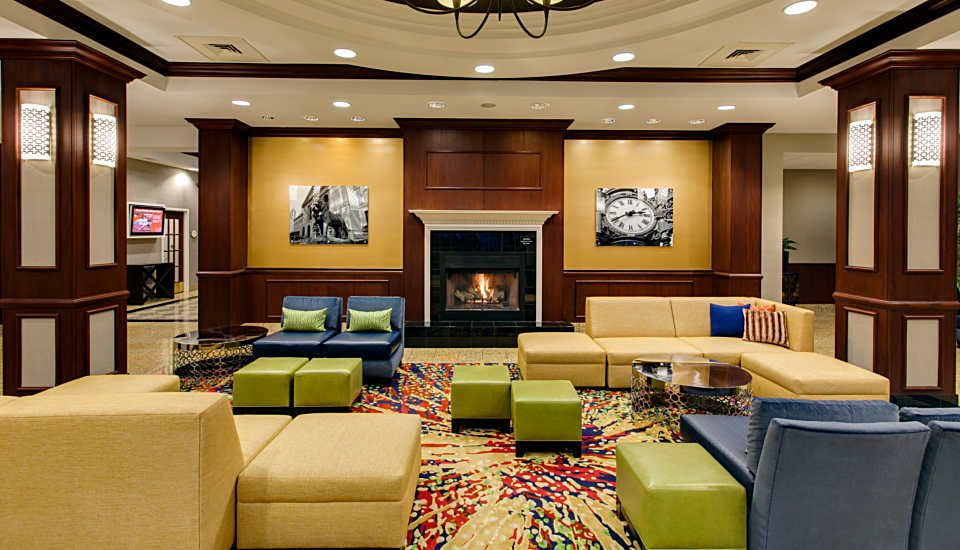 Chicago Midway Airport Hotel Yellow Modular Seating Completed