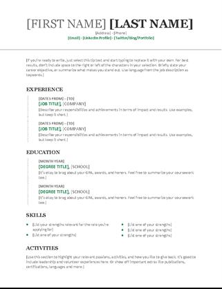 Chronological Resume Modern Design Chronological Resume Chronological Resume Template Resume Examples