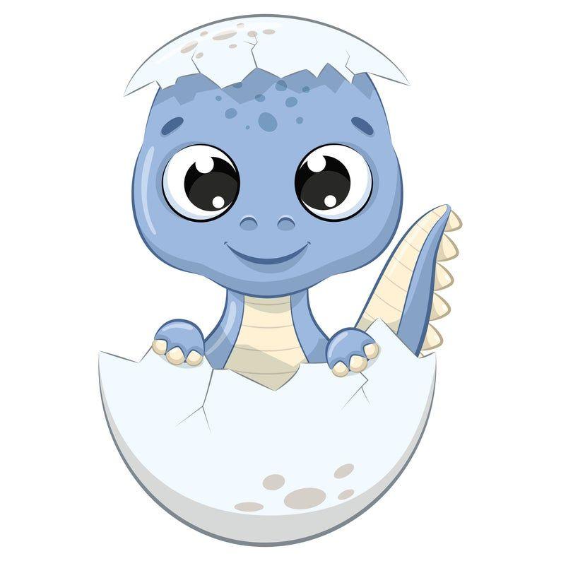 Cute Baby Dinosaur Clipart Png Eps Digital Clip Art Etsy Baby Animal Drawings Baby Dinosaurs Baby Art