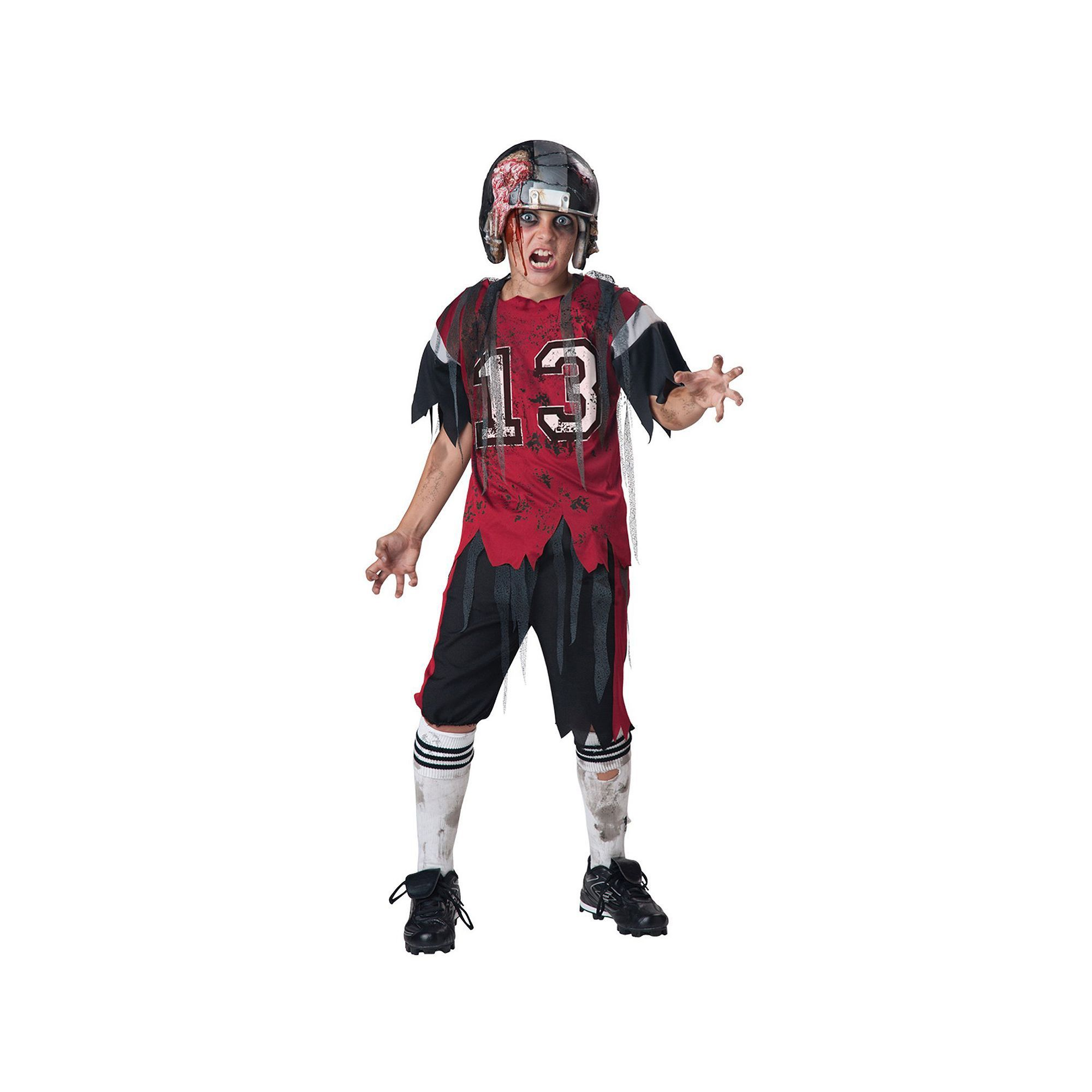 Kids Zombie Football Player Costume Boyu0027s Size Medium Multicolor  sc 1 st  Pinterest : kids baseball costumes  - Germanpascual.Com