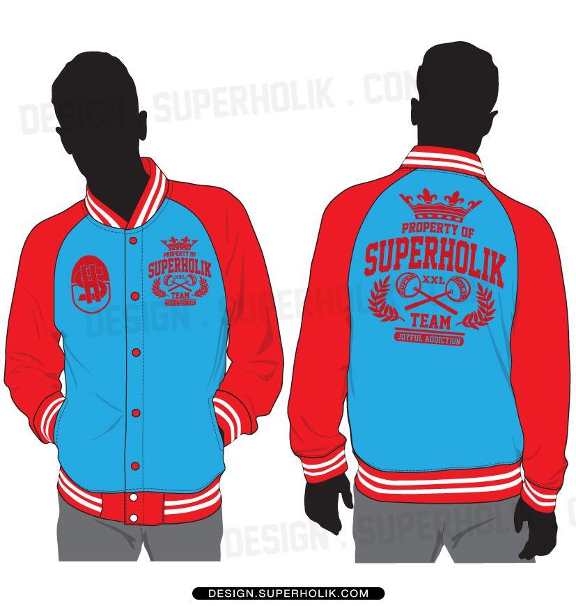 raglan varsity jacket template set fashion vector templates