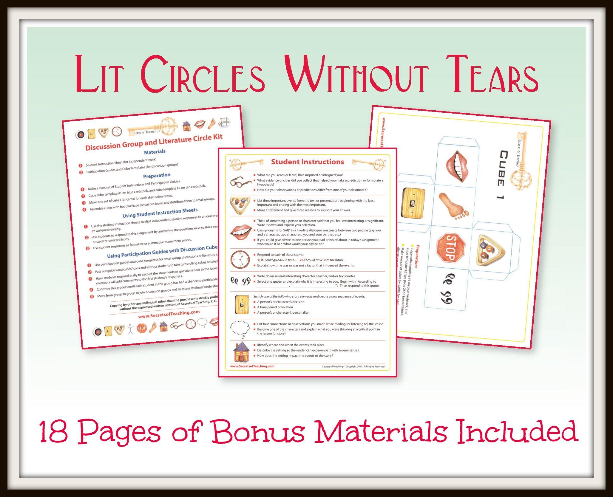 Literature Circle Templates Tips For Managing Book Buddies Book