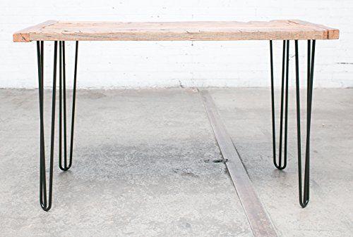 desk hardw Mid Century Industrial style hairpin braced table furniture legs
