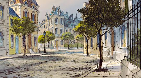 Paris in Disney's The Aristocats (1970)