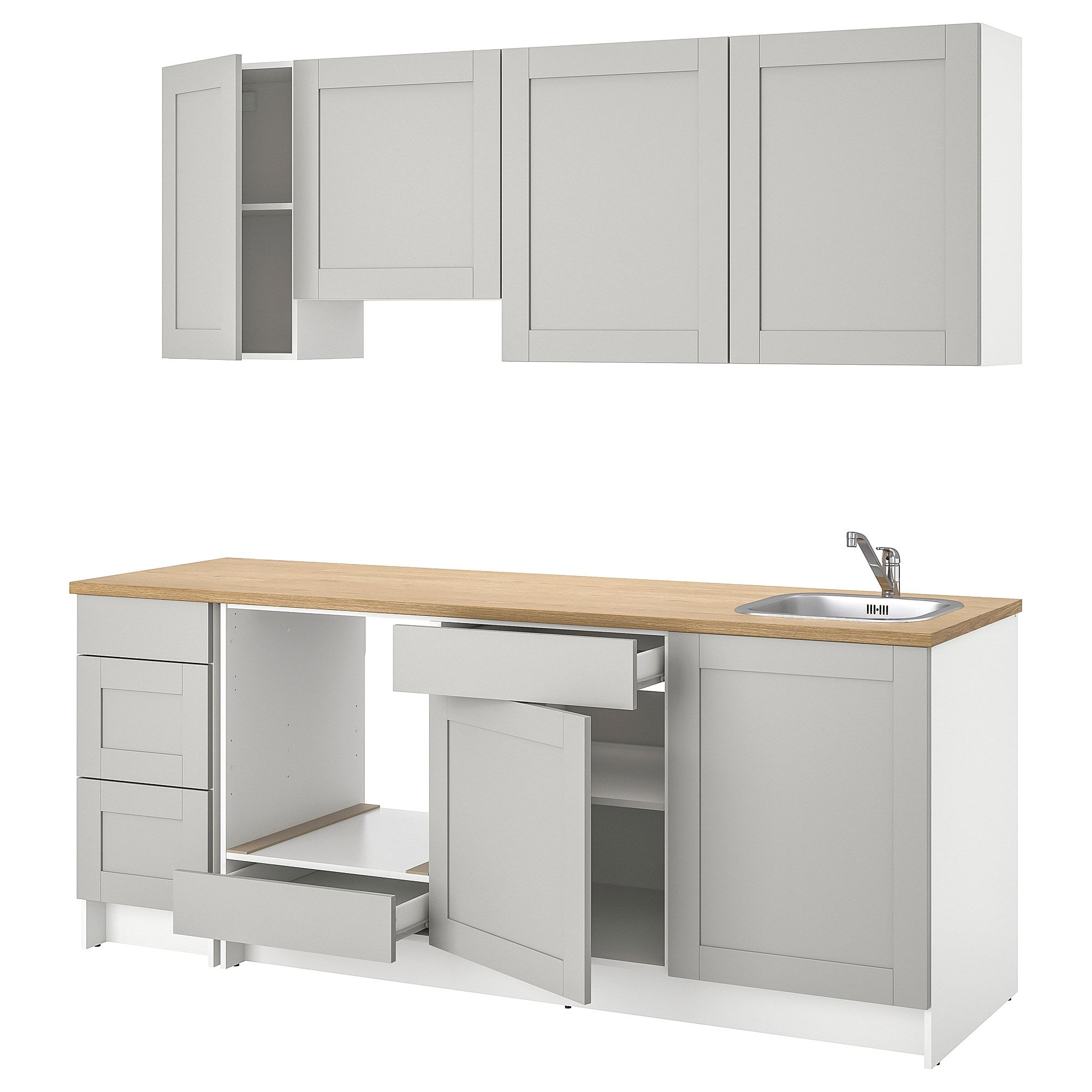Best Ikea Knoxhult Kitchen Grey Only To Be Used With Glass 400 x 300