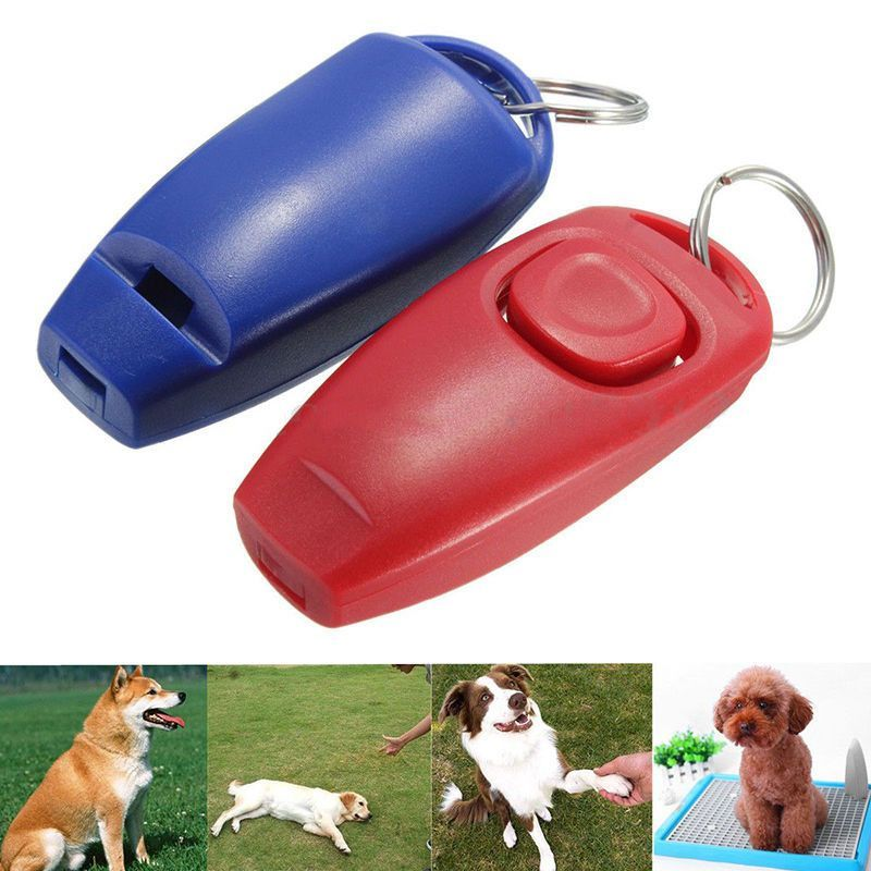 Dog Clicker Whistle Training Obedience Pet Trainer Click