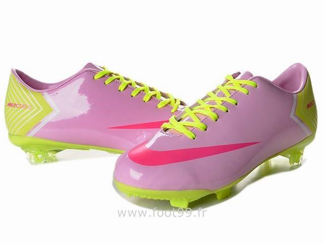 chaussures de foot nike mercurial vapor x fg rose vert nike mercurial vapor ix pas cher