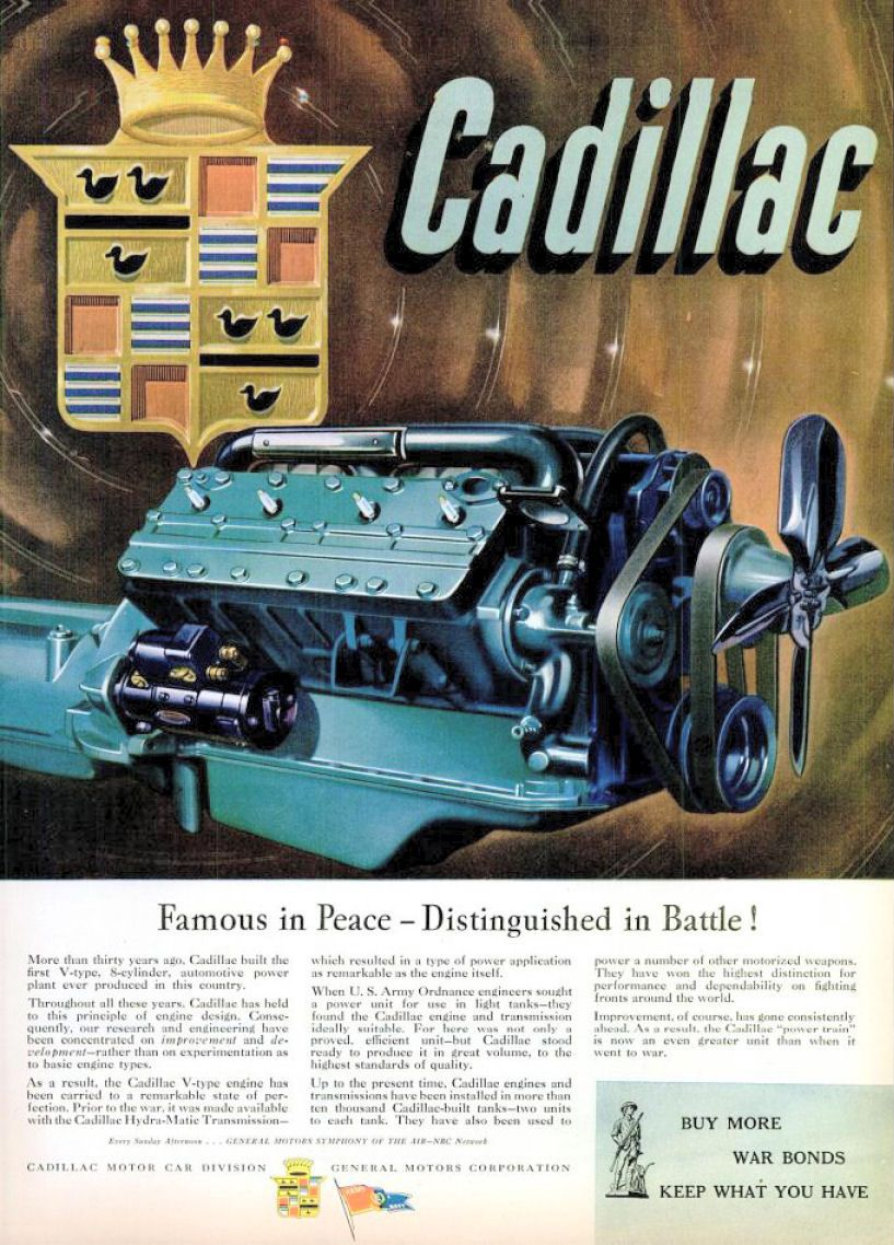 1945 Cadillac Ad-02 The transmissions were made by Detroit ...