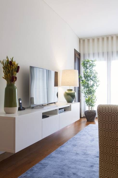 Sala comum zona de estar m vel tv salas de estar moderno for Decoracion de interiores zona sur