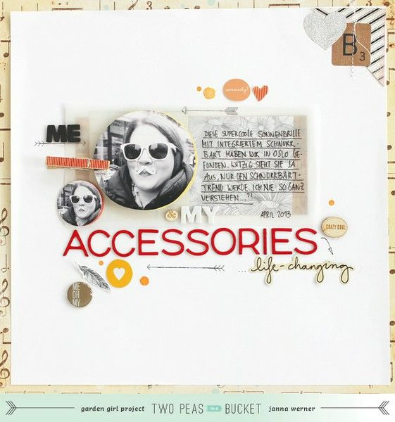 FOCUS ON PHOTOS: My accessories by @Jan K. Werner - Using shaped photos - Two Peas in a Bucket