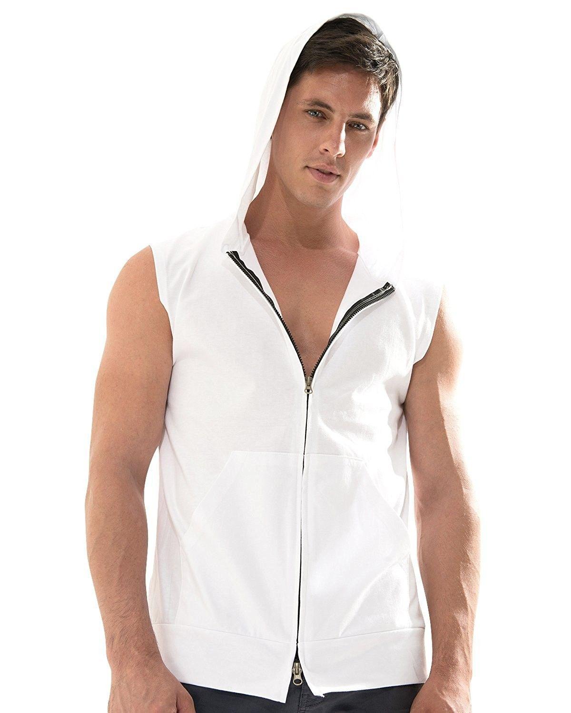 7b3c9fec Casual Sleeveless Zip Up Hoodie Athletic Active Sweatshirt Vest Top - White  - C0122C8RL6P,Men's Clothing, T-Shirts & Tanks, Tank Tops #men #fashion ...