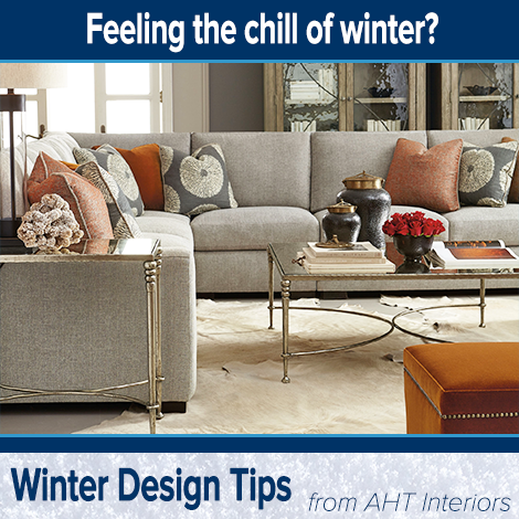 We're pleased to bring you another quick tip to help create a home environment that feels warm during these cold winter months:   Use accent pieces such as pillows and accessories in warmer colors -- like reds, oranges, yellows and browns -- that complement your interior décor.