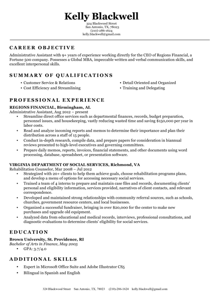 Classic Resume Template Nursing Free Sample