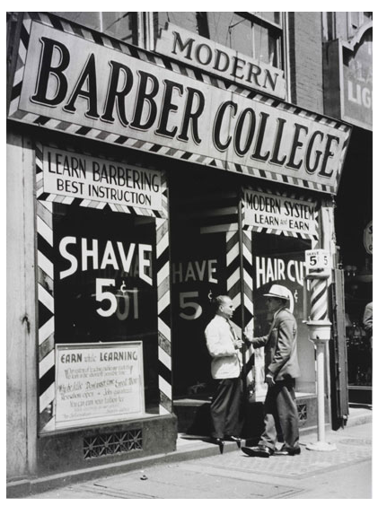 Barber College C 1930s My Dad Learned Barbering From His Dad Not