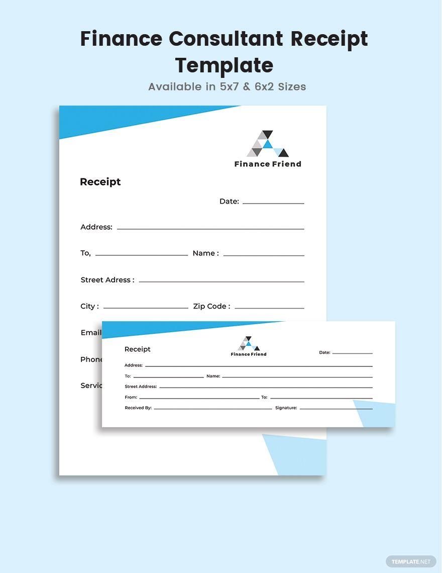 Finance Consultant Receipt Template Free Pdf Word Psd Indesign Apple Pages Illustrator Publisher Receipt Template Microsoft Publisher Word Doc