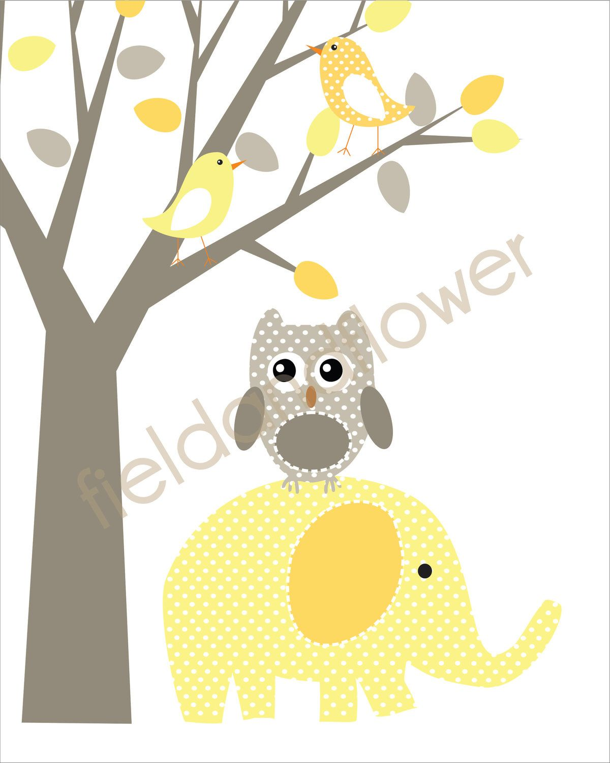 Childrens Art Prints, Nursery Wall Art, Baby room decor - Elephants ...