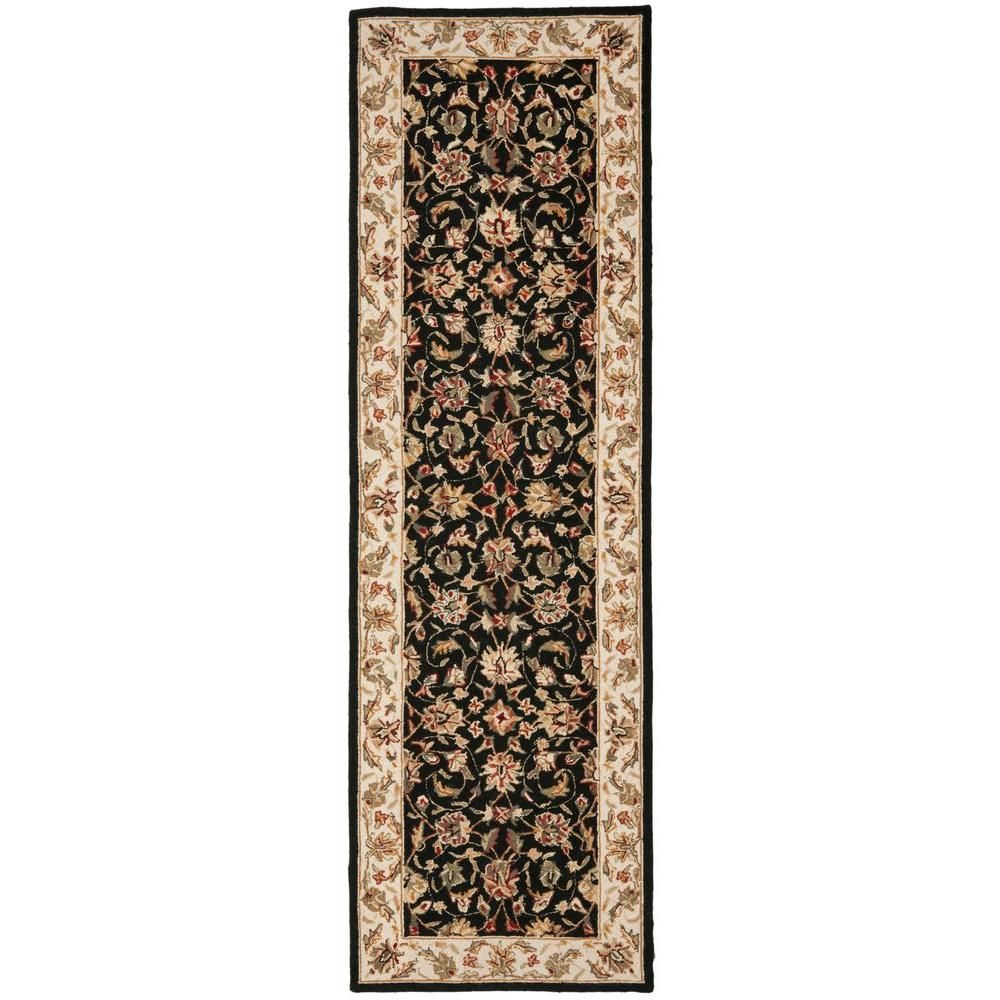 Safavieh Chelsea Black 3 Ft X 12 Ft Runner Rug Products Rug Runner Rugs Area Rugs